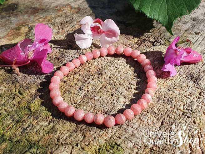 Bracelet Rhodochrosite – Pierre d'Apaisement – Qualité A+ – Boule 5mm