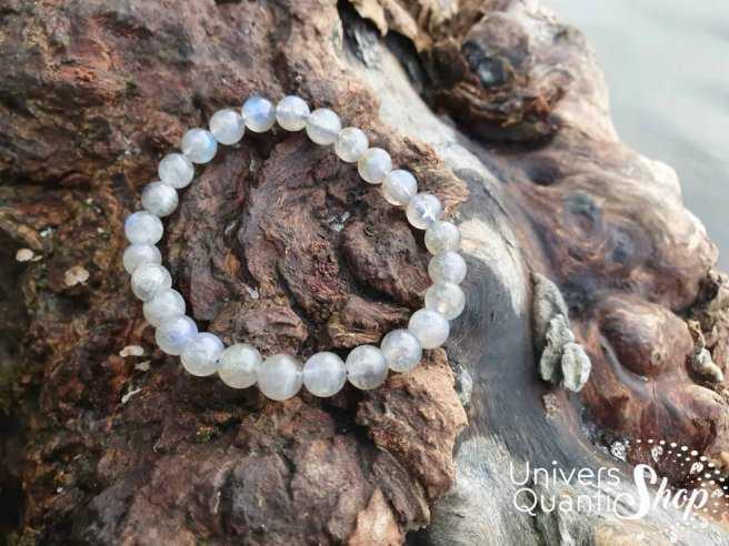 Bracelet Labradorite – Pierre de Protection et du Thérapeute – Qualité AA – Boule 8mm