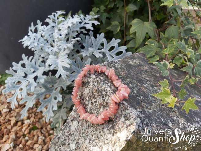 Bracelet Rhodochrosite – Pierre d'Apaisement – Qualité A+ – Baroque
