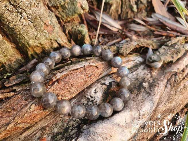 Bracelet Labradorite – Pierre de Protection et du Thérapeute – Qualité A+ – Boule 10mm