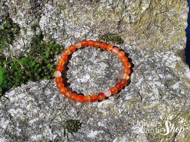 Bracelet Cornaline – Pierre de Procréation – Qualité A – Boule 6mm