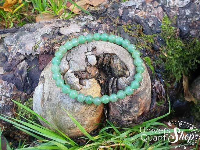 Bracelet Aventurine Verte – Pierre de la Sérénité – Qualité AB – Boule 6mm