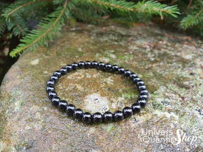 Bracelet Tourmaline Noire – Pierre d'Ancrage – Qualité A – Boule 6mm