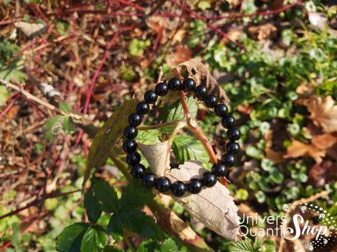 Bracelet Obsidienne Noire – Pierre de Protection – Qualité A – Boule 8mm