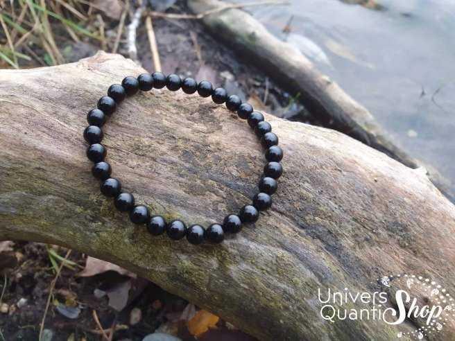 Bracelet Obsidienne Noire – Pierre de Protection – Qualité A – Boule 6mm