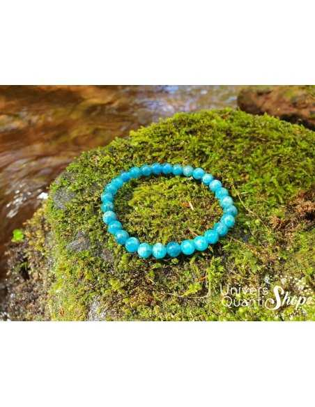 Bracelet apatite bleue – Pierre de l'affirmation qualité A+ boule de 6mm