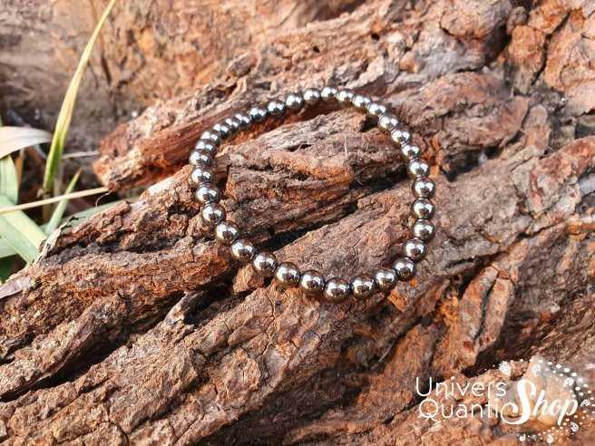 Bracelet Hématite – Pierre d'Harmonie – Qualité AB – Boule 6mm
