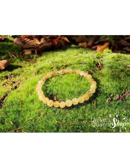 Bracelet Cristal de Roche Rutile – Pierre de Puissance – Qualité A – Boule 6mm