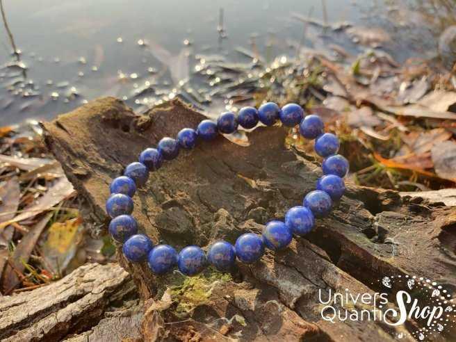 Bracelet Lapis Lazuli – Pierre de Communication – Qualité AA – Boule 8mm