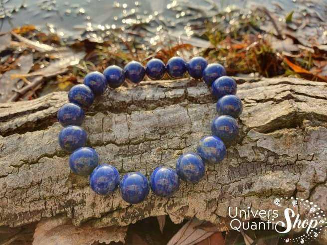 Bracelet Lapis Lazuli – Pierre de Communication – Qualité A – Boule 10mm