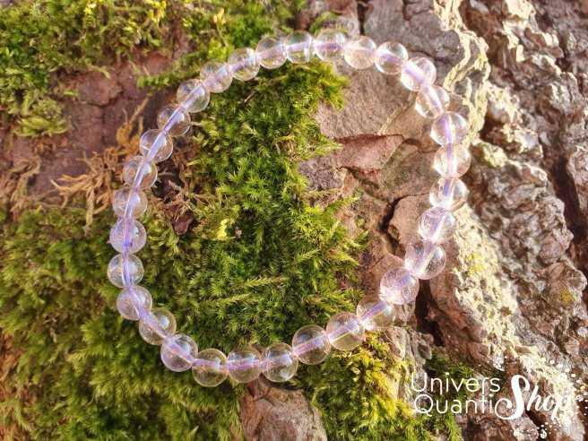 Bracelet Amétrine Naturelle – Pierre d'Accompagnement – Qualité A – Boule 6mm