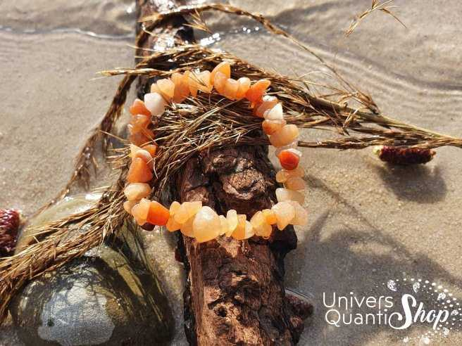 Bracelet Aventurine Orange – Pierre du Bien-Être – Qualité A – Baroque
