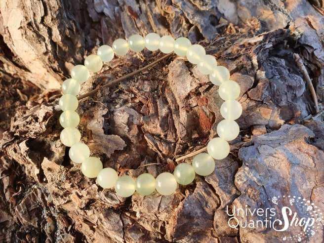 Bracelet Jade de Chine – Pierre d'Authenticité – Qualité A – Boule 8mm