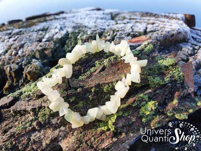 Bracelet Jade de Chine – Pierre d'Authenticité – Qualité A – Baroque