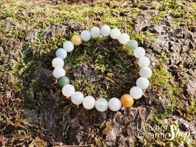 Bracelet Jade de Birmanie – Pierre d'Authenticité – Qualité AB – Boule 8mm