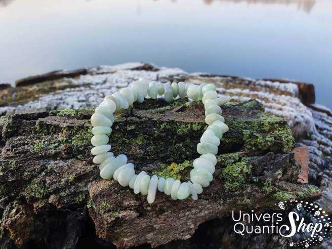 Bracelet Jade de Birmanie – Pierre d'Authenticité – Qualité A – Baroque