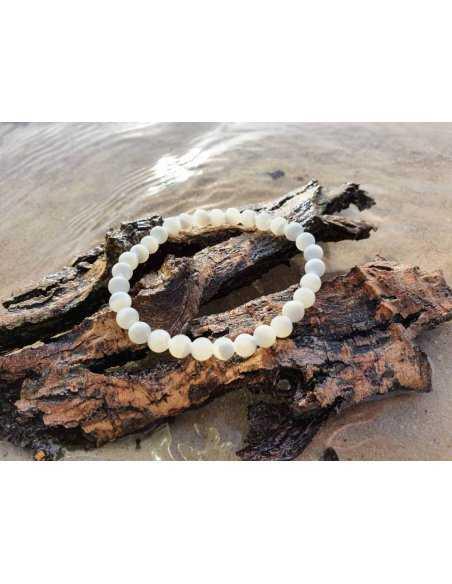 Bracelet Nacre – Pierre de la Douceur – Qualité A – Boule 6mm