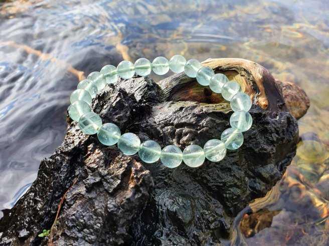 Bracelet Fluorine Verte – Pierre de la Concentration – Qualité AA – Boule 8mm