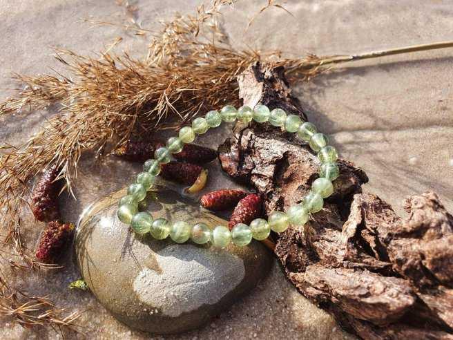 Bracelet Apatite Verte – Pierre d'Encouragement – Qualité A – Boule 6mm