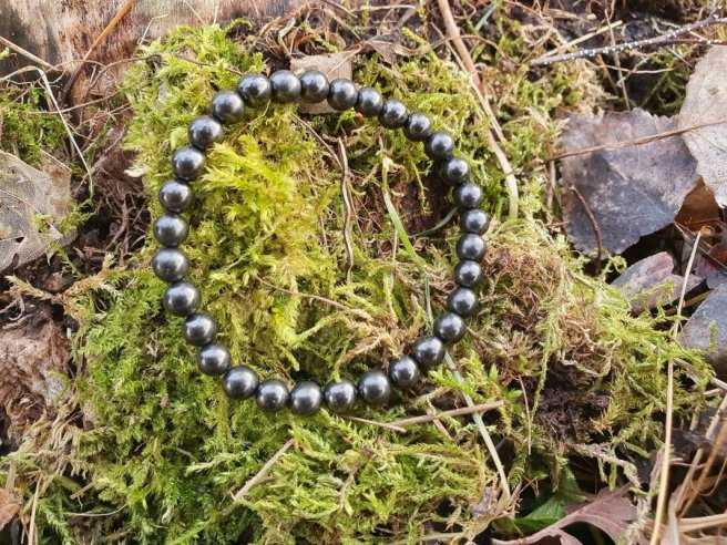 Bracelet Shungite – Pierre Vivifiante – Qualité A – Boule 6mm