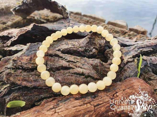 Bracelet Calcite Orange – Pierre de Positivité – Qualité A – Boule 6mm