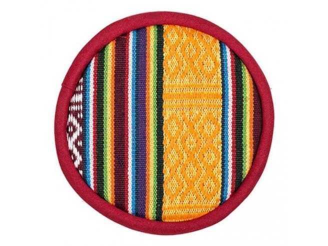 Coussin Plat pour Bol Chantant Tibétain – 100% Coton – Tribal Design