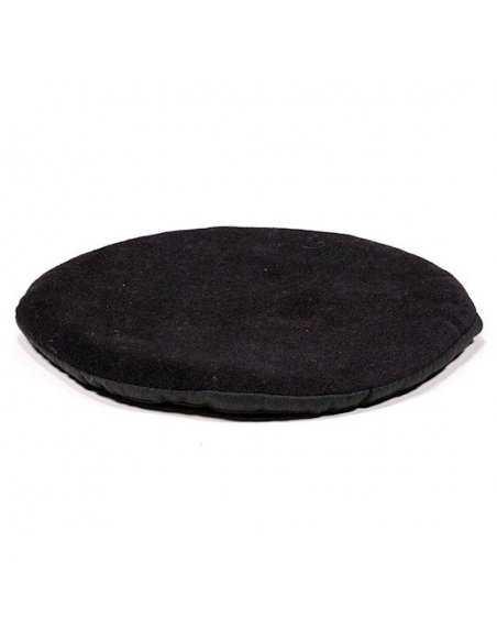 Coussin Plat pour Bol Chantant Tibétain – Coton – Rond Noir