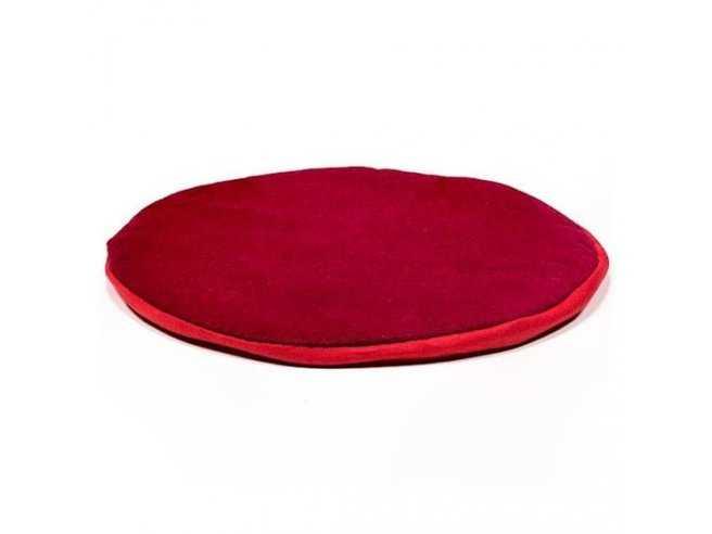 Coussin Plat pour Bol Chantant Tibétain – Coton – Rond Rouge