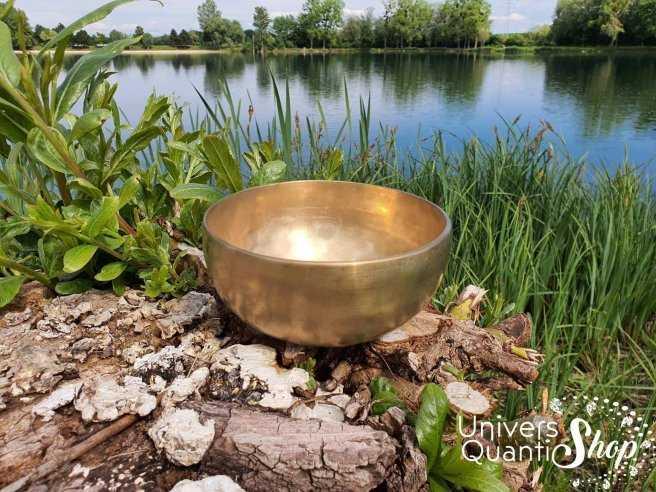 """Bol Chantant Tibétain """"Traditionnel"""" aux 7 métaux – 16,5 cm 775 grs"""