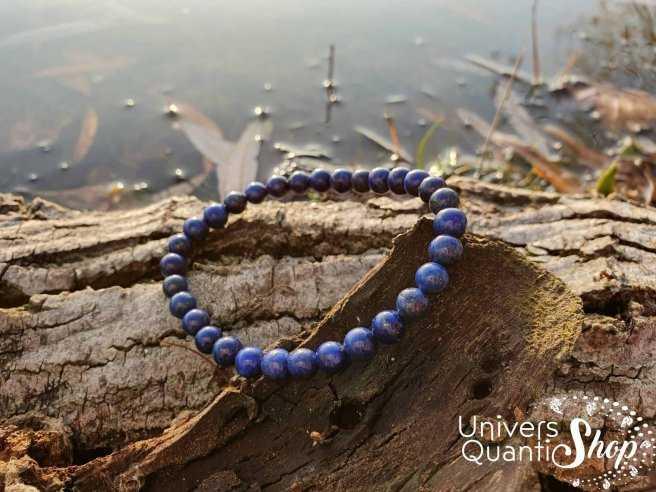 Bracelet Lapis Lazuli – Pierre de Communication – Qualité AA – Boule 6mm