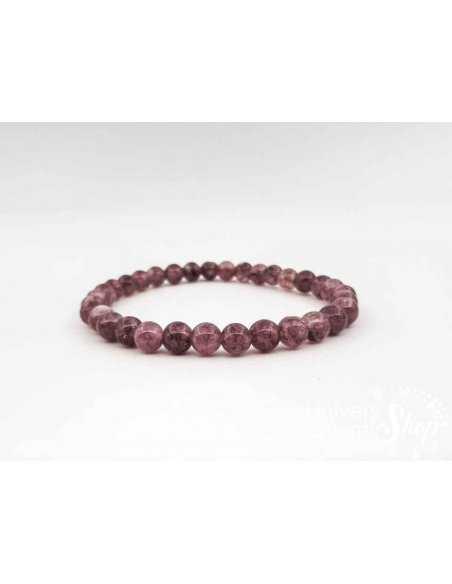 Lithothérapie - Bracelet de lépidolite, pierre d'allègement