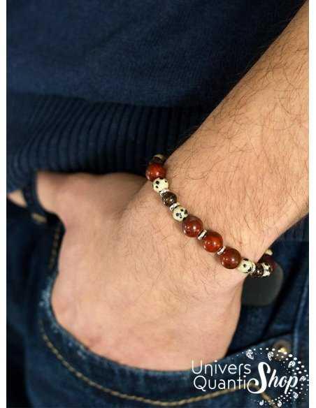 bracelet création consciente pour homme retrouvez une sexualité sacrée portée sur fond bleu