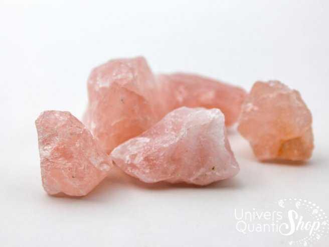Pierre brute quartz rose - pierre de l'amour en lithothérapie