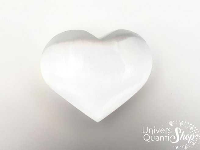 Coeur sélénite, pierre sélénite, pierre de la mémoire