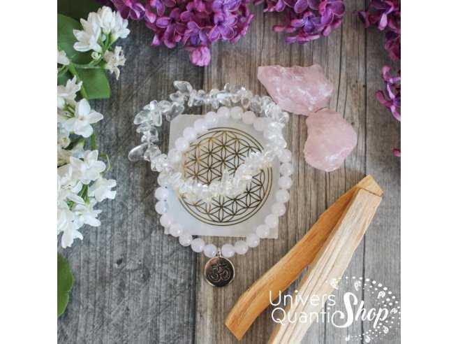coffret amour et pureté, coffret lithothérapie et bien-être alliant pierres naturelles, fleur de vie et encens traditionnel