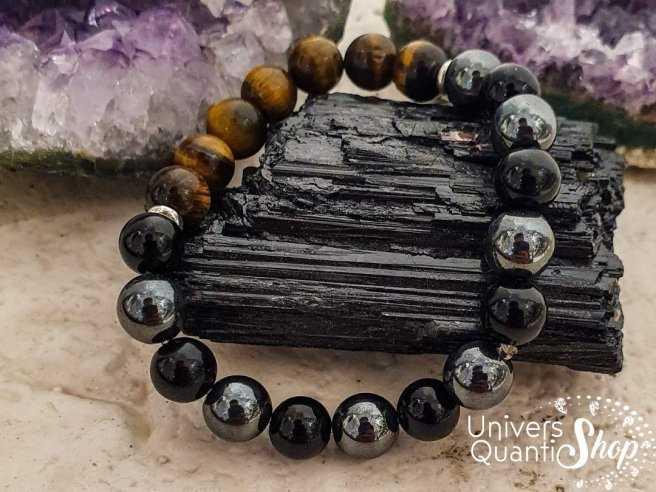 Bracelet de protection en pierres naturelles 8mm. Bienfaits et vertus en lithothérapie