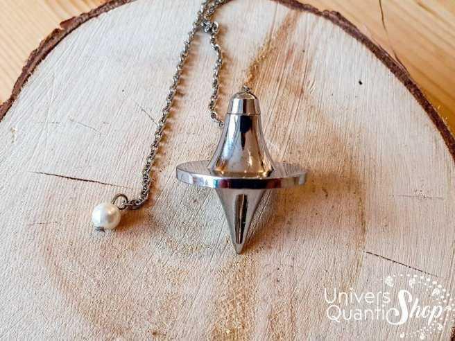 Pendule divinatoire, pendule argus en métal - Univers Quantic Shop