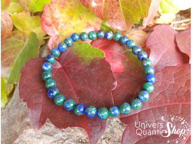 bracelet azurite malachite naturelle de 6mm qualité extra
