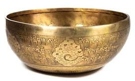Les bols tibétains gravé main et bouddha gravé main aux 9 métaux martelés main, sélectionnés avec amour et passion