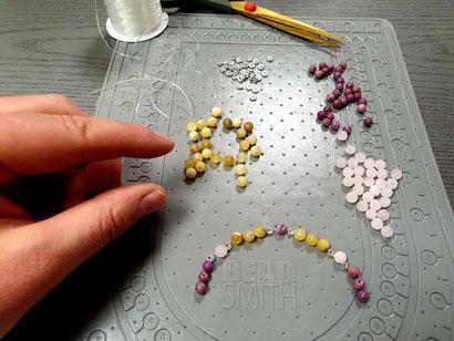 fabrication des bracelets créations conscientes dans notre atelier en France sur Strasbourg